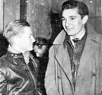 Ronnie and Reg, both 17 years old, on the threshold of great careers in speedway